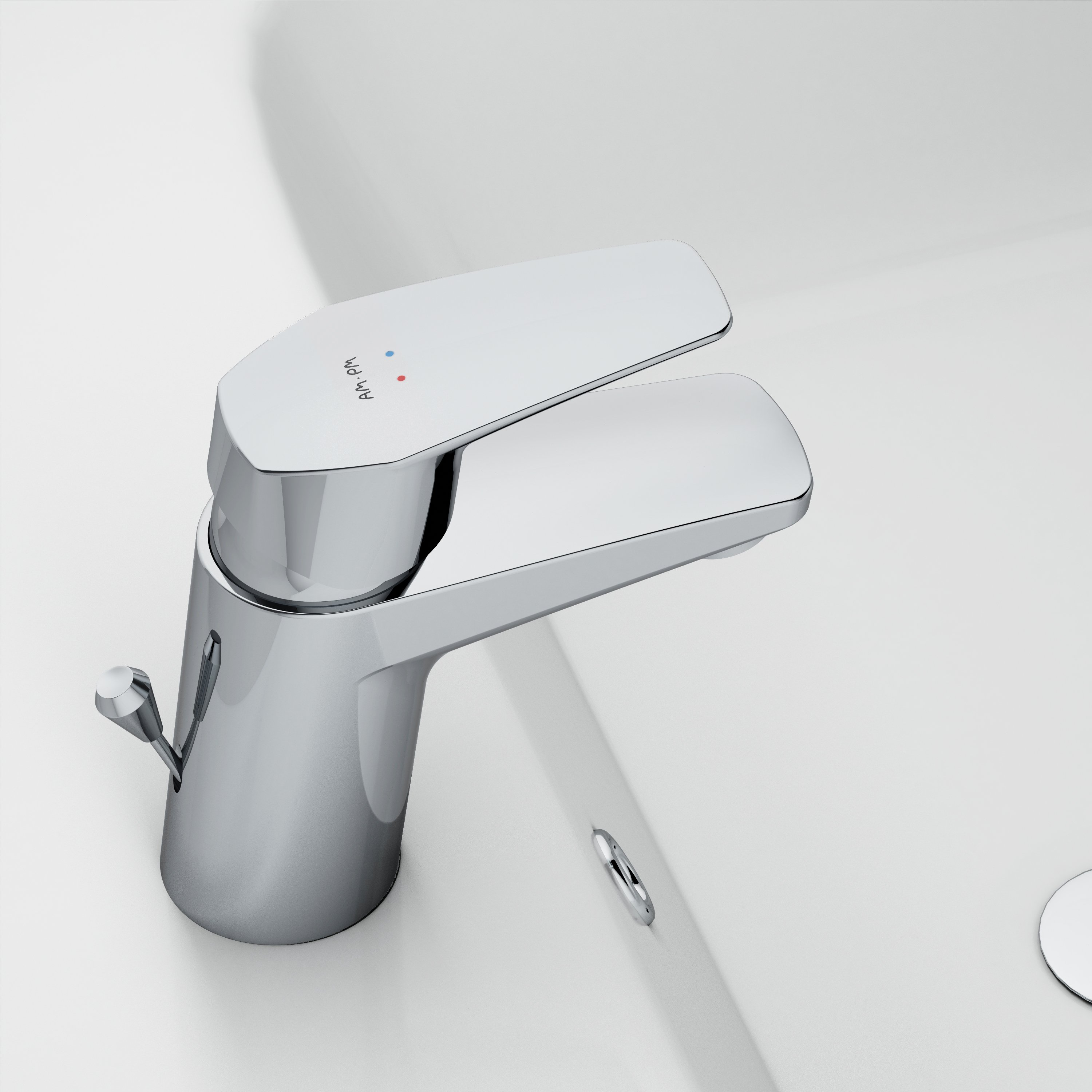 F90821W0 Single-lever basin mixer with waste set
