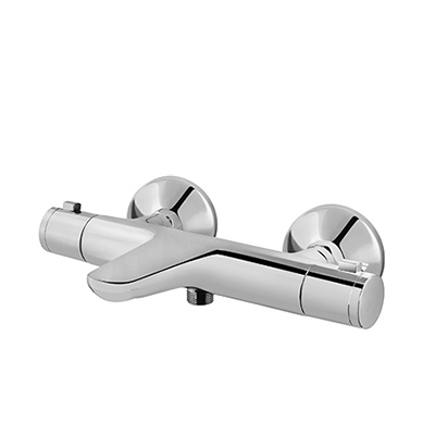 Thermostatic bath and shower mixer