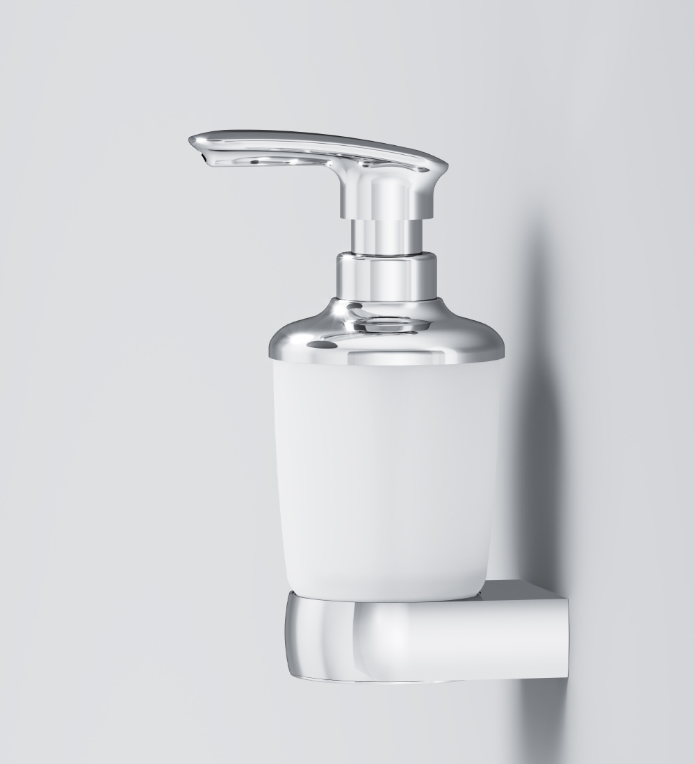 A3036900 Glass soap dispenser with holder