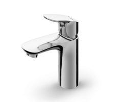 Single-lever basin mixer with waste set
