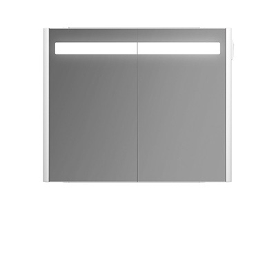 Mirror cabinet with lighting, 80 cm